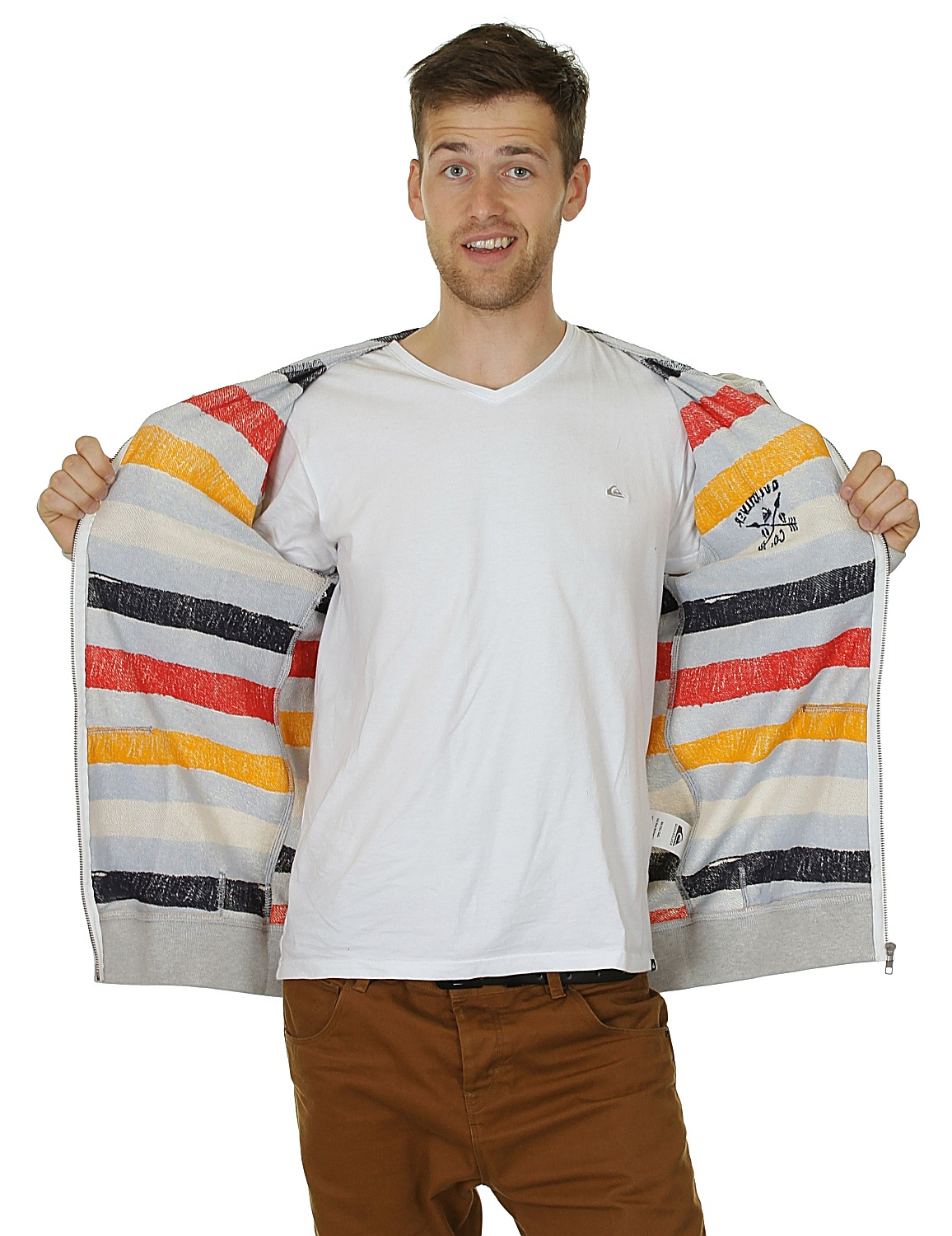 bluza Quiksilver Beached Zip - Light Gray Heather