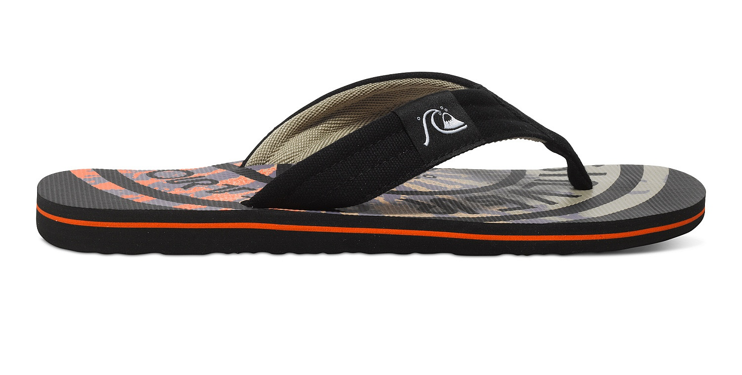 žabky Quiksilver Molokai Layback Black Red Red