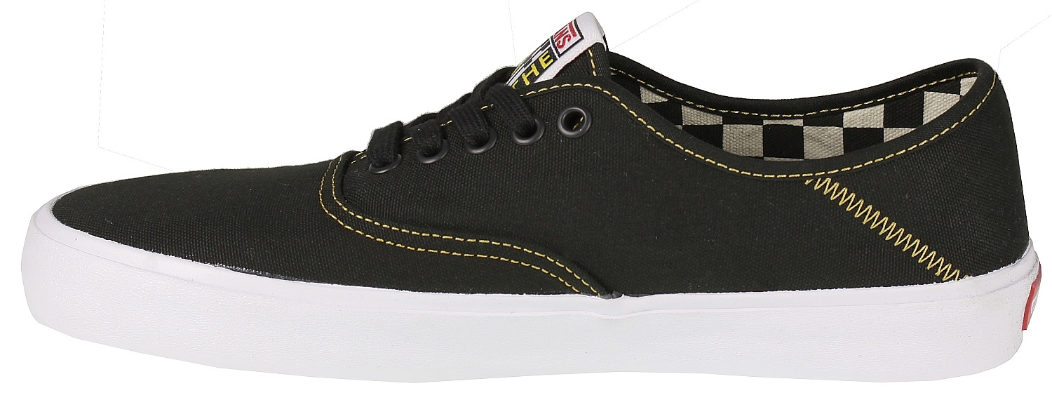 Boty vans authentic sf black spruce yelow snowboard shop