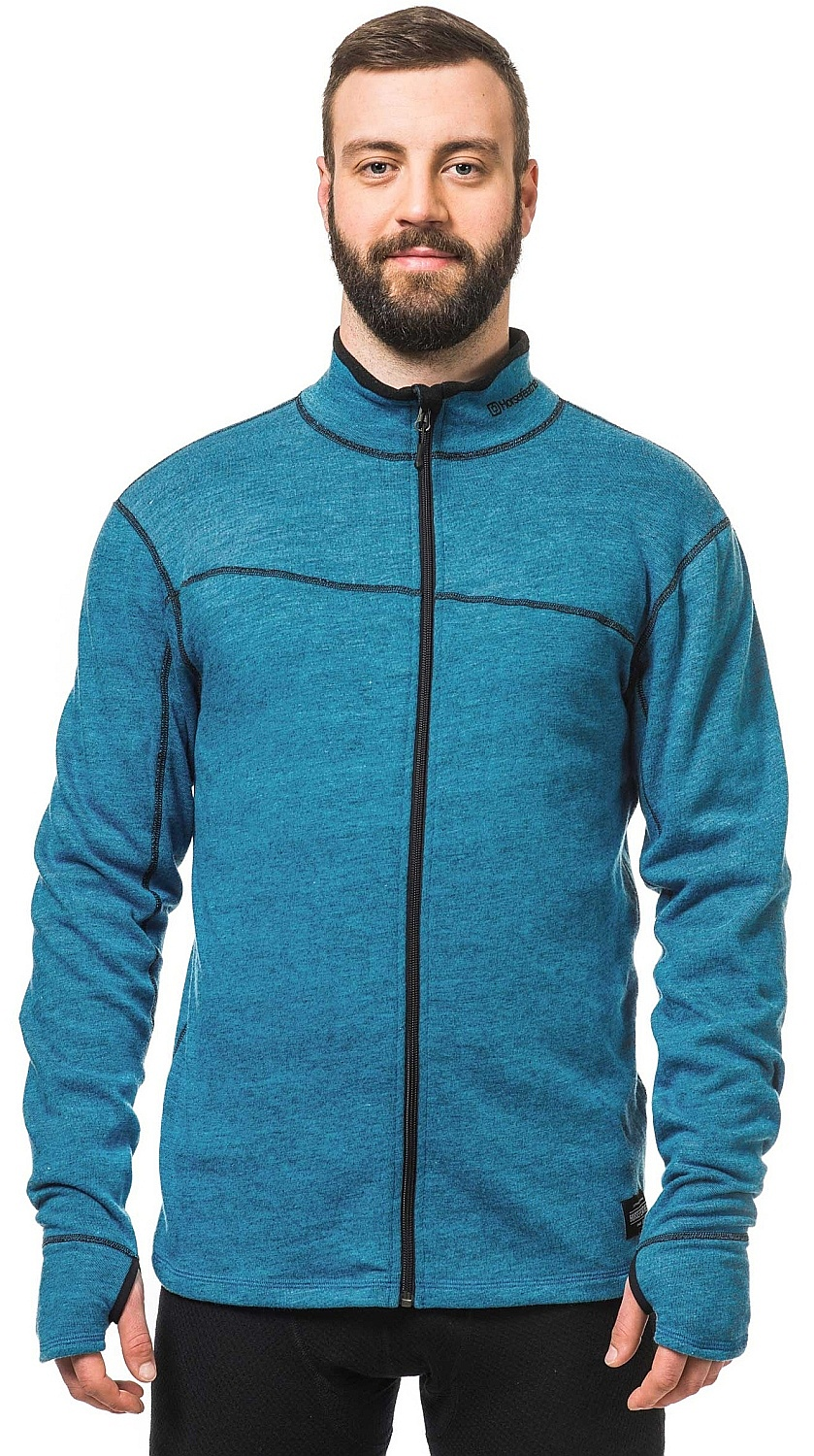 mikina Horsefeathers Sloane Zip - Heather Blue