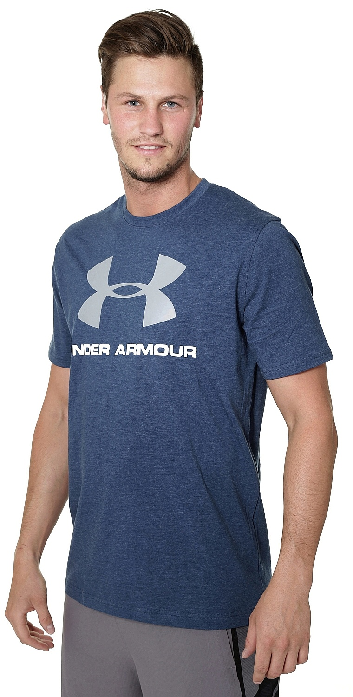 Under Armour Logo >> tričko Under Armour Sportstyle Logo - 999/Blackout Navy Medium Heather/White - Snowboard shop ...